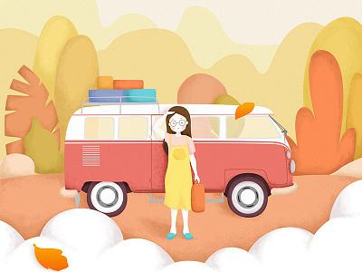 Heart in travel. travel illustration