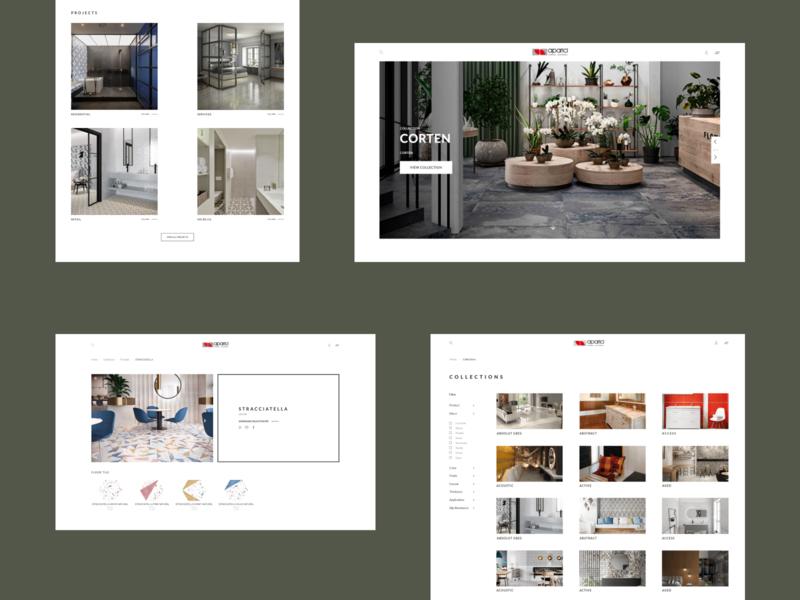 Aparici Website ecommerce whitespace clean minimalistic design typography graphic design ux ui