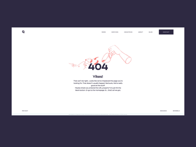 Ester Digital 404 Page morning motion spill error 404 coffee cup minimalistic whitespace 404page web animation illustration typography graphic design ux ui