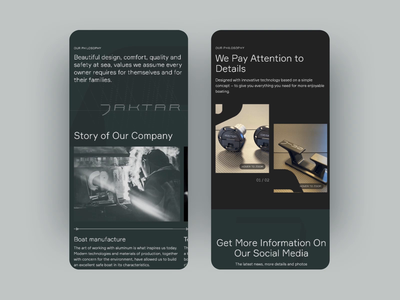 Jaktar Mobile minimal interaction mobile animation design typography ux ui graphic design