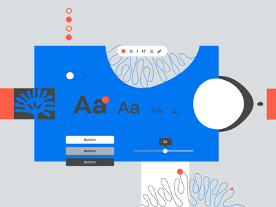 Design System blog article illustration designsystem design graphic design ux ui