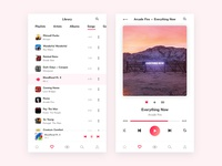 iOS Music Player Concept