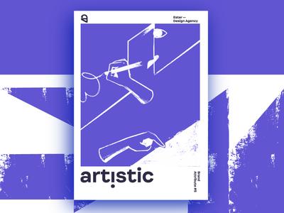 Ester - Artistic. Brand Attribute Poster