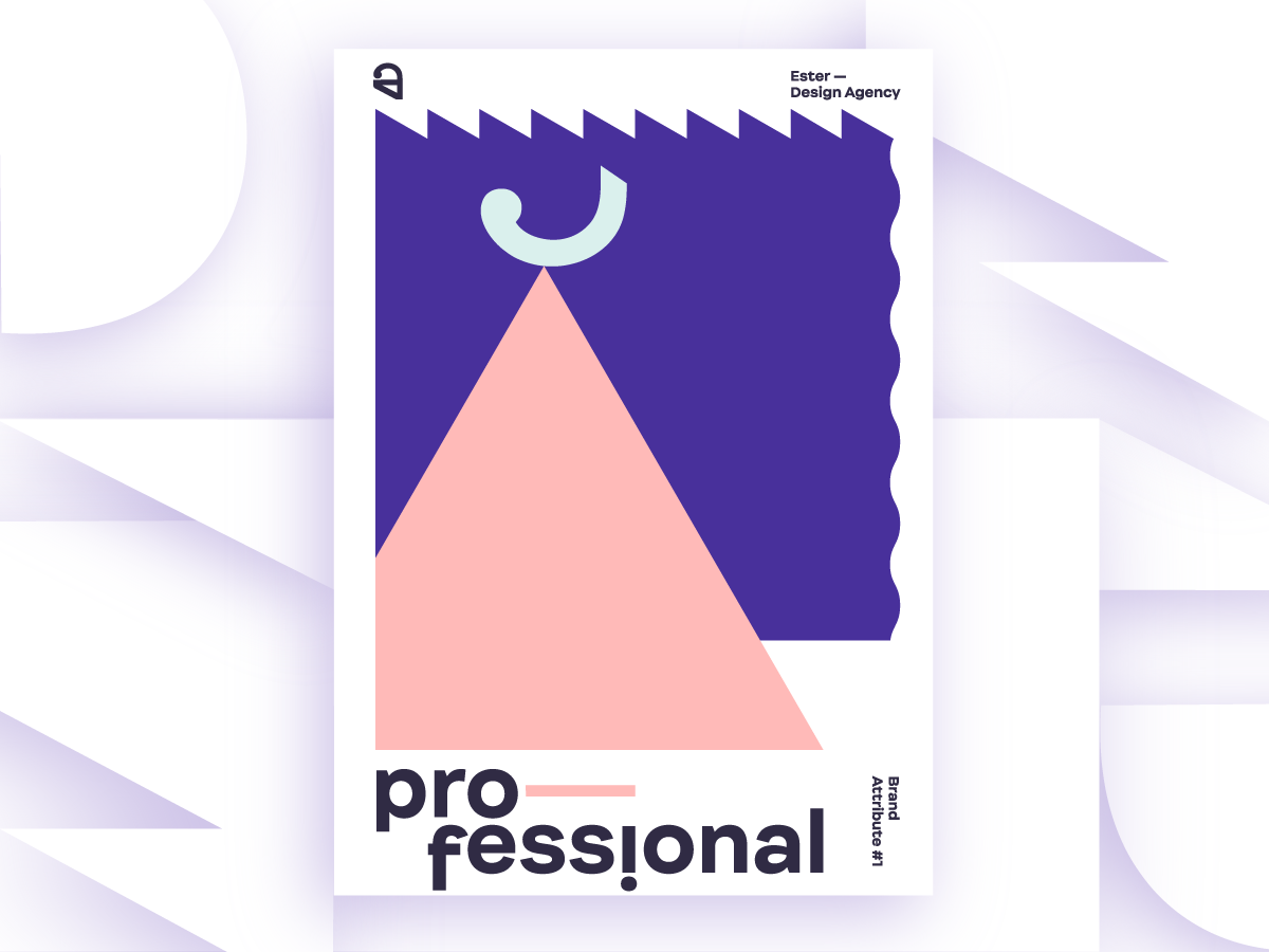 ester professional brand attribute poster by ester digital