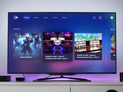 Smart TV App for e-sports