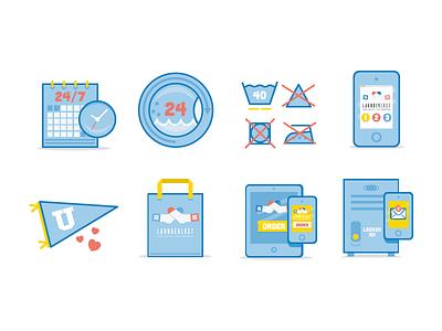 Laundry Icons iphone bag wash laundry