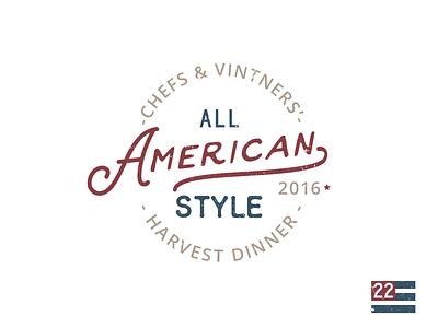 All American Style america american logo dinner
