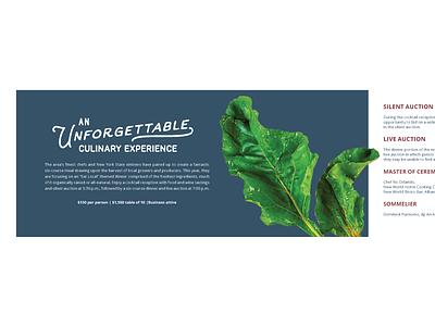 Invitation Layout and Type culinary food invitation