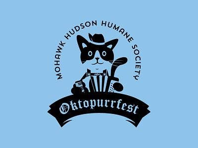 Oktopurrfest pets oktoberfest cat logo humane society