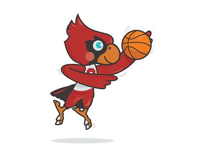 Elementary School Mascot bird mascot hoops basketball cardinal