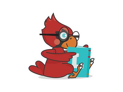 Cardinal Reading book mascot cardinal