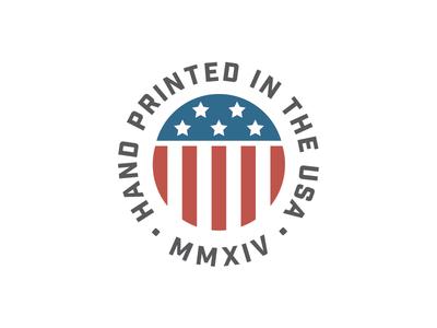 Print x USA tried and true usa badge hand printed thing