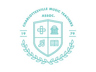 Charlottesville Music Teachers Association charlottesville music teacher association virginia badge logo rotunda dogwood note book