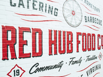 Red Hub Food Co. – Sign Painting