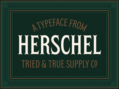 Meet Herschel™ vintage type tuscan gilded age gaslight bifurcated ephemera display type font design type design font typeface herschel