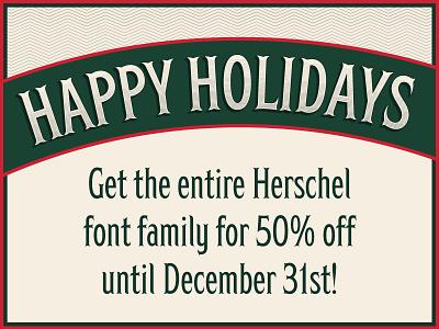 Herschel holiday sale! happy holidays sale type design vintage victorian 1900s merry christmas font herschel