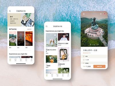 Travel App Design - Explore collage explore home screen tourism clean ui travel mobile app app mobile ux ui travel app