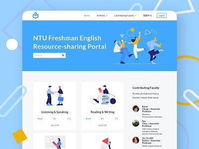Resource-sharing Portal Website knowledgebase energetic university education website blog homepage platform education design ux ui