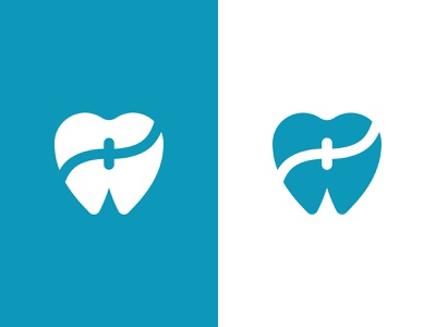 Dental Clinic Logo Design wordmark heart tooth geometric letter f dental clinic dental dentist logodesign branding vector logo design