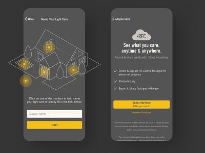 IoT mobile App Onboarding & Subscription Design dark theme dark ui subscription onboarding illustraion vector iot app mobile ux ui design