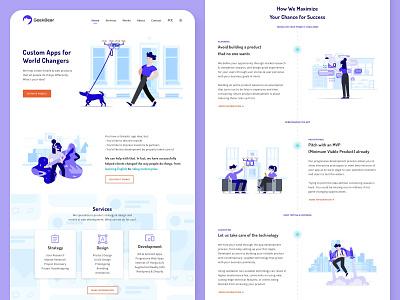 Digital Agency Landing Page Design clean landing page design agency digital agency illustration website ux ui design