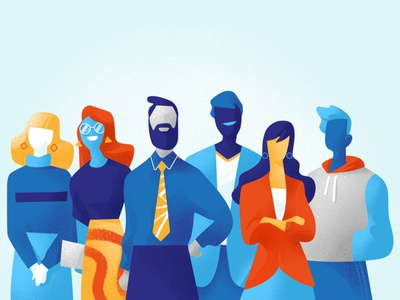 About Us hurca vectorart illustration talents startup managers professionals teamwork team people