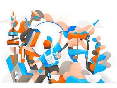 Future Innovators illustration original imagination community breinstorming creativity ideas sharing