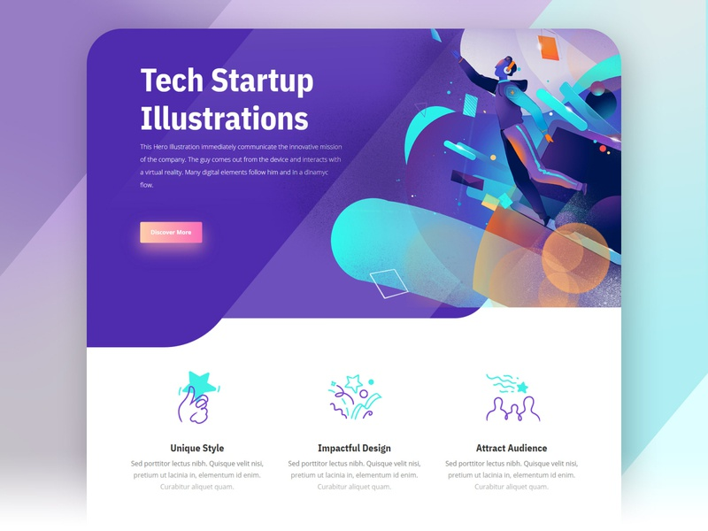 Tech Startup Design digital startup tech design tech company symbols icons user experience web design branding cool ui design illustration