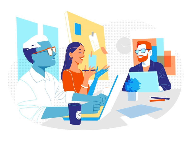 Board Meeting ideas vision strategy teamwork top team managers brainstorming discussion conference meeting room board meeting room people illustration