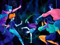 Breakdance Challenge challenge contest cyberworld cyber fintech event community drawing breakdance dance young people lifestyle illustration