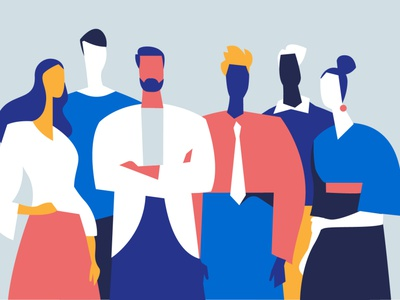 Folks style vector. guys personality folks group team illustration characters pop art lifestyle society crowd people