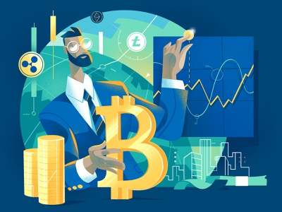 Crypto Guru money bitcoin expert finance fintech trading online crypto trading cryptocurrency