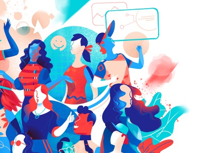 Best Company Detail #1 characters community creative cool lifestyle society people illustration