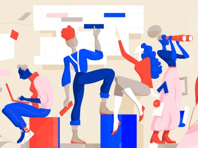 Collective Know-how V2 characters community design creative startup cool society style people lifestyle illustration