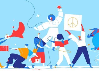 Eclectic People lifestyle society illustration vectorart fans community movida people event crowd festival party fun happiness congratulations fest joy happy characters celebrations