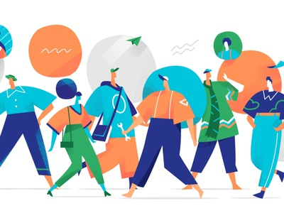 Urban Crowd style design cool illustration groucho character design look lifestyle creative social network relations crowd characters society people community