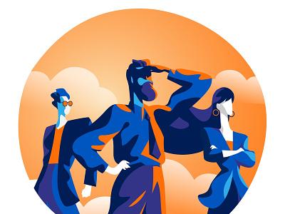 Tomorrow is Coming people style leadership team startup future sight line of sight leader vison illustration