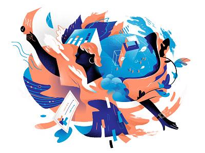 My Right privacy melting pot hero illustration wow illustration