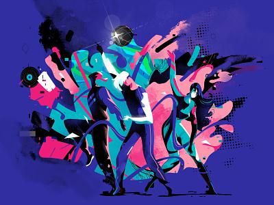 180 BPM illustration drum n base celebrate style society party noise disco house music dance