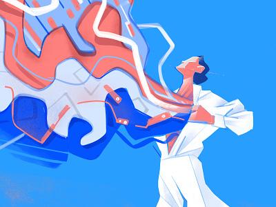 Super Ego procreate illustration existence outing outside personal branding flow creativity soul lifestyle life ikigai