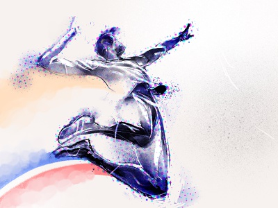 In Front of You illustration lifestyle perspective ascent freedom jump athlete