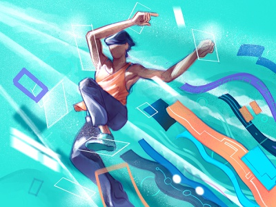 Out of the Schemes creative flow freedom freestyle information procreate illustration jump escape
