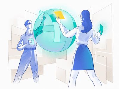 Simple Customization interactive customize designer user interface ux sphere design illustration