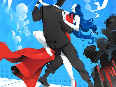 The Last Day illustration lifestyle couple tango dance armageddon apocalypse dancing