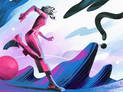 Low Gravity another world illustration escape running cosmos space sci-fi runner