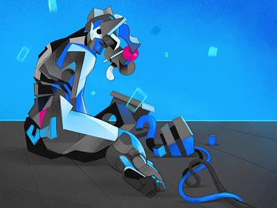 Plastica illustration prototype human work in progress robotics human design poly polygons anatomy ai robot