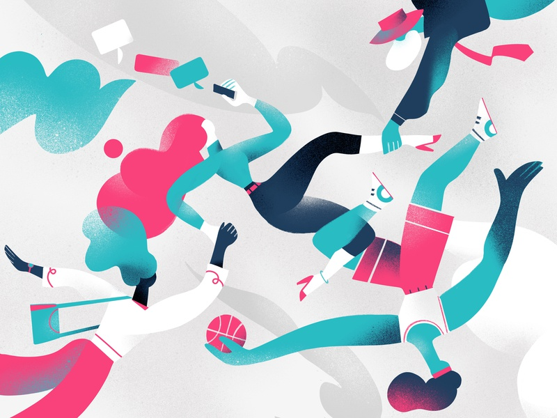 Community Links cooperation social connection join hurca dribbble lifestyle cool people
