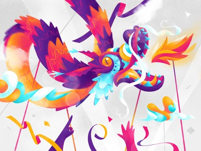 Paper Dragon celebrations saturation colors dagon ball hurca norde amazing wow boost burn fire happybness cool chinese dragon