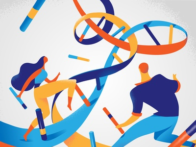 Dna Challenge: Palette #2 experiment research science genome couple colors palette dna