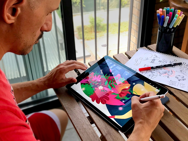 Hurca! Genesis creative process ipad studio workflow inspiration illustration